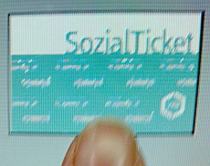 Touchscreen Sozialticket
